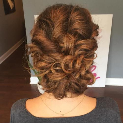 Twists And Curls Loose Updo
