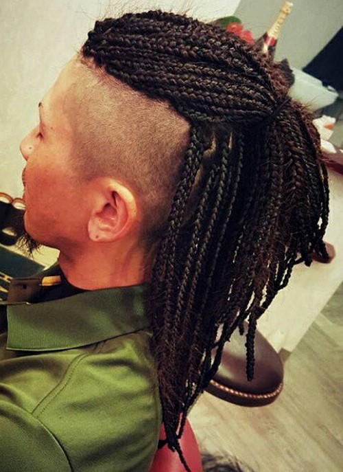 Box Braids With A Cut Mohawk Picture | Short Hairstyle 2013