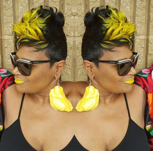 short colored hairstyle for black women