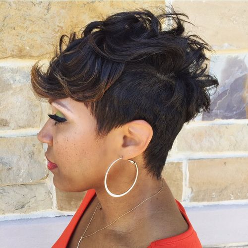 black women's undercut hairstyle