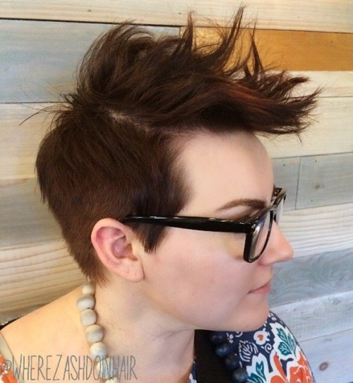 Women's Spike Long Top Short Sides Hairstyle