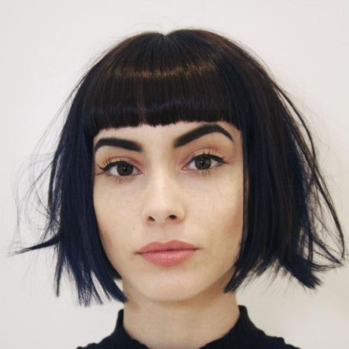 bob with cropped bangs