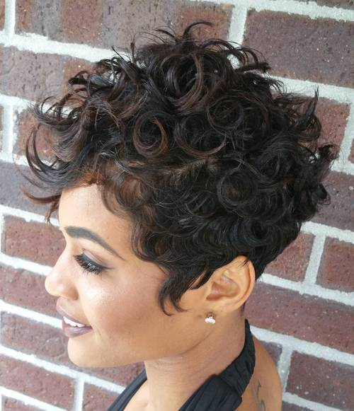 curly pixie for black women