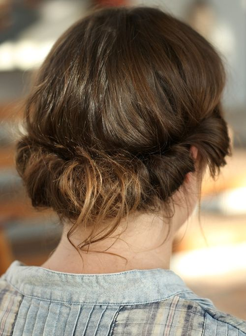 cute messy updo