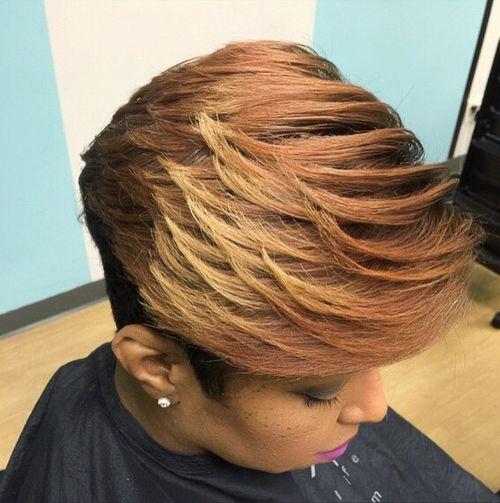 short layered haircut for black women