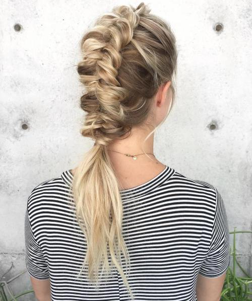 Dutch Fishtail Mohawk Braid
