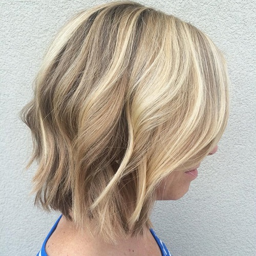 Wavy Hairstyle For Choppy Bob