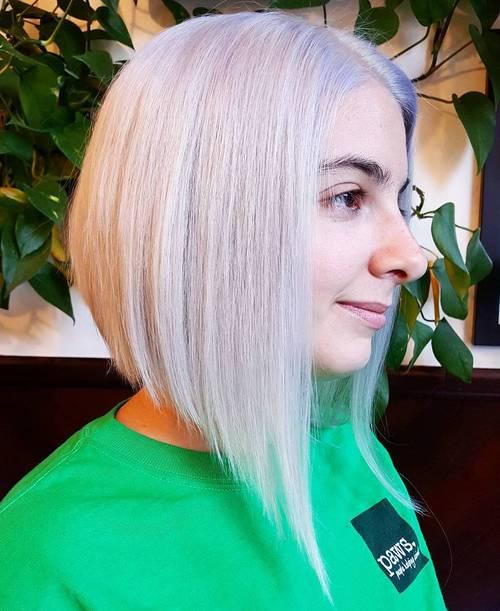 50 spectacular blunt bob hairstyles - Bob silberblond ...