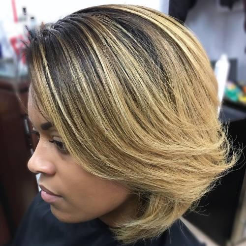African American Honey Blonde Bob