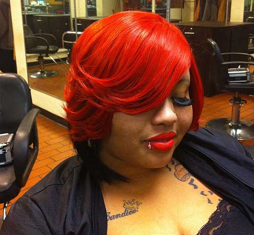 African American layered bob for plus size women