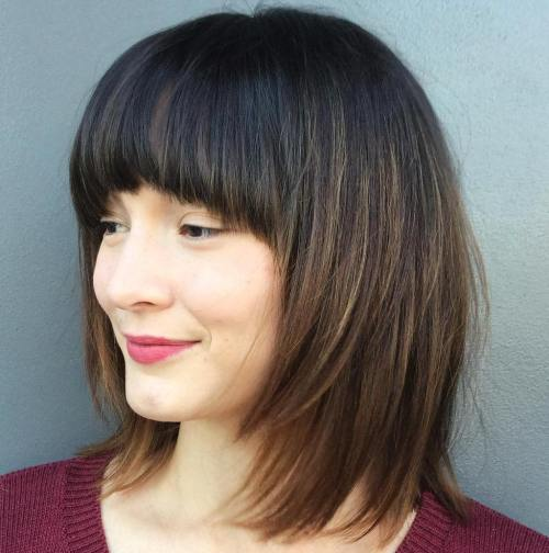 Layered Bob With Arched Bangs