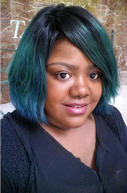 layered chin-length bob for black women