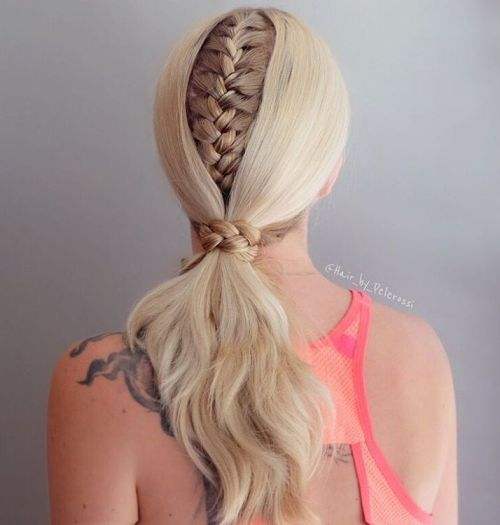 Low Blonde Pony With A Braid