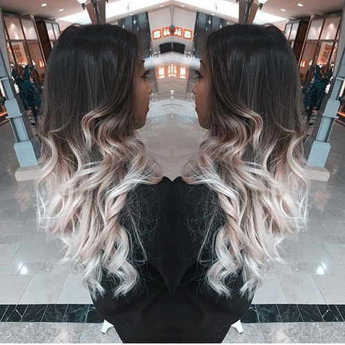 Platinum Blonde Ice 40 Glamorous Ash Blonde And Silver Ombre Hairstyles