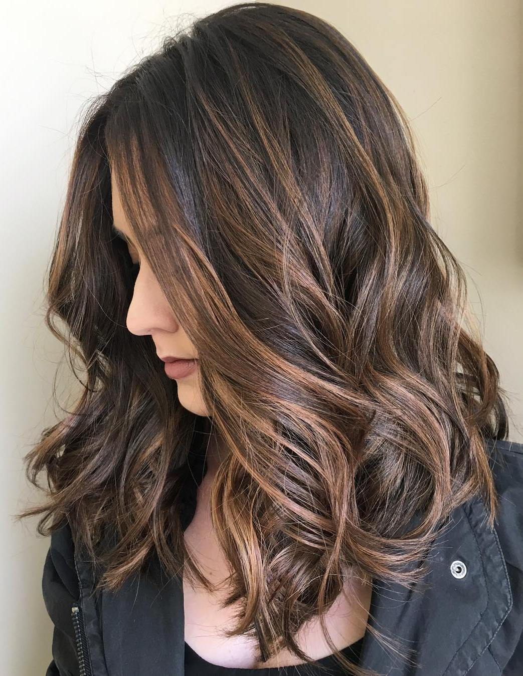 Long Bob Ombre Braun 70 Balayage Hair Color Ideas With Blonde Brown And Caramel Highlights