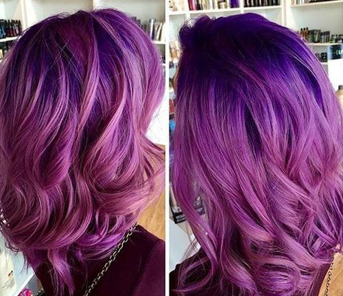 beautiful purple hair color