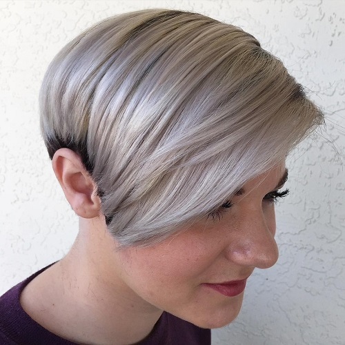 Black And Ash Blonde Pixie
