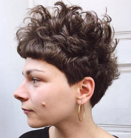 Messy Pixie For Curly Hair