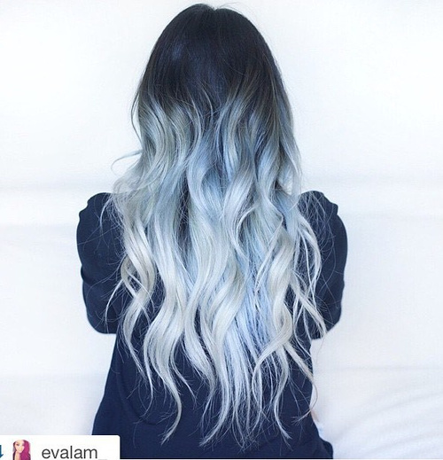 long gray ombre hair