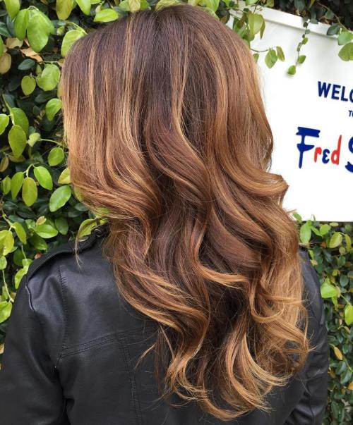 90 balayage hair color ideas with blonde brown and - Balayage braun caramel ...