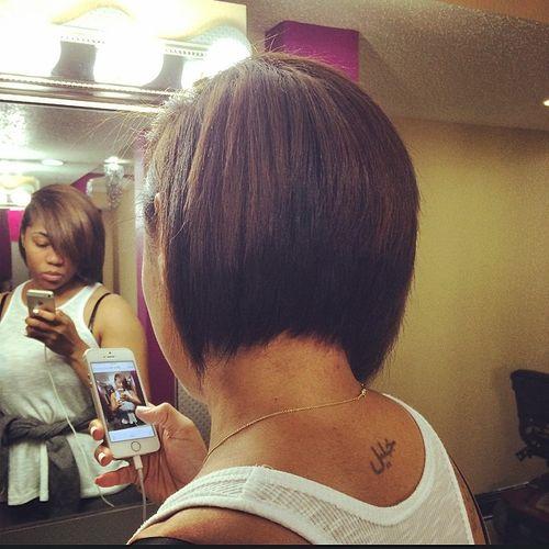 layered bob for black women