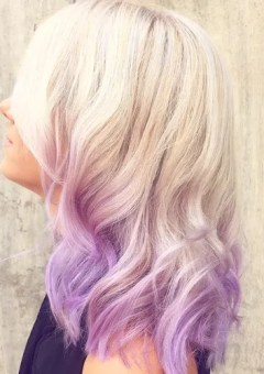 lavender dip dye for platinum blonde hair
