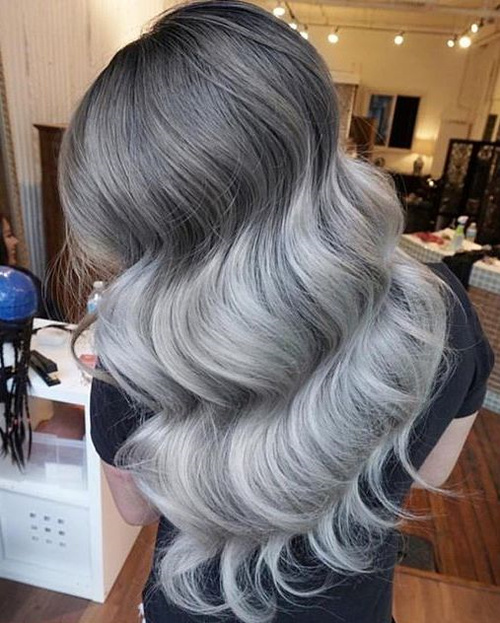 dark to gray ombre