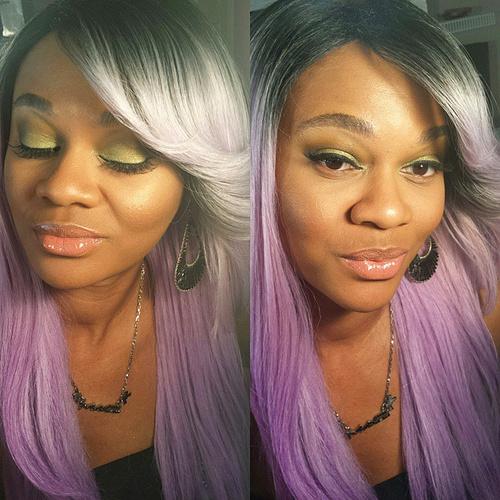 lavender ombre for black women