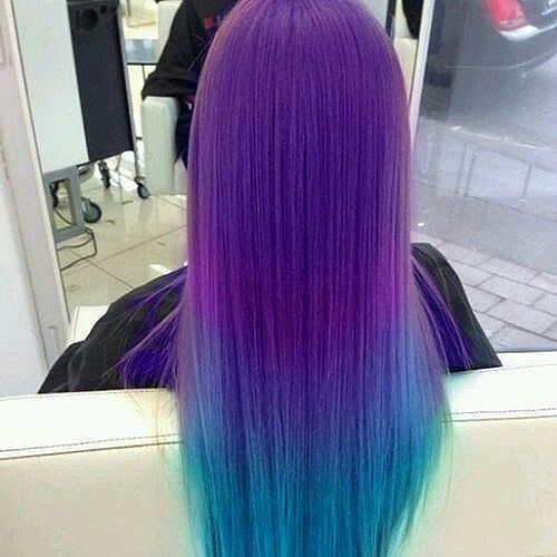 lavender to blue hair color