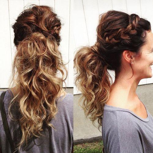 Side ponytail updos for long
