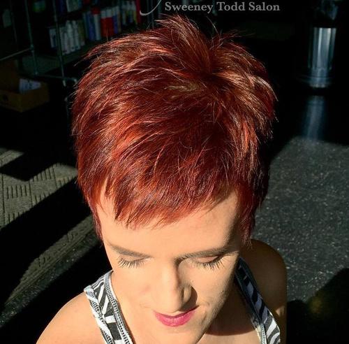 Auburn Pixie Hairstyle