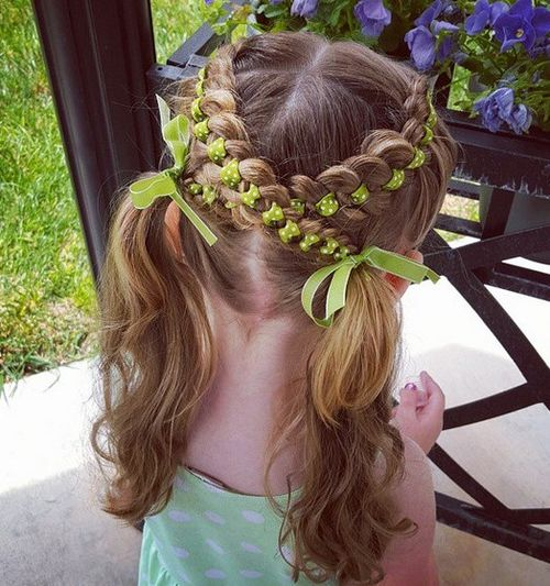 lace braids and pigtails for girls