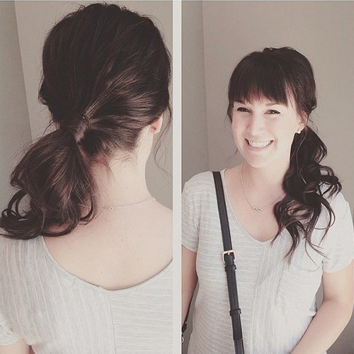 Gallery For Weave Ponytail With Side Bangs