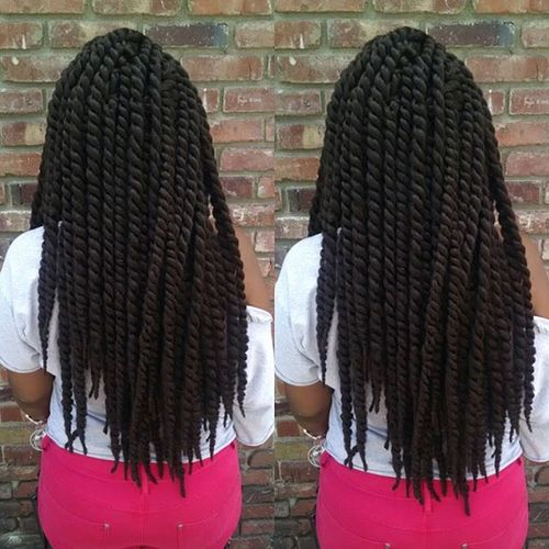 thick twists black hairstyle