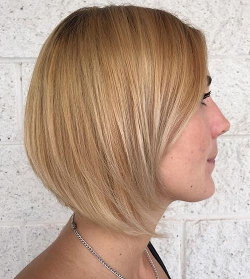 blonde bob with babylights