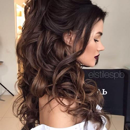 half up pony for long hair