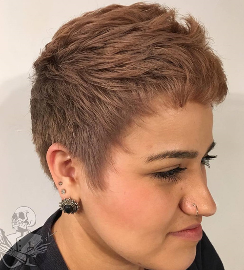 Extra Short Brown Hairstyle For Women