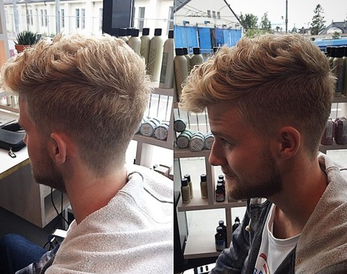 long top short sides haircut for curly hair
