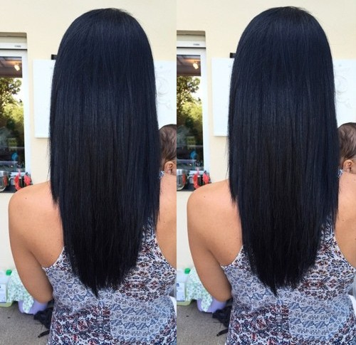 long layered U haircut