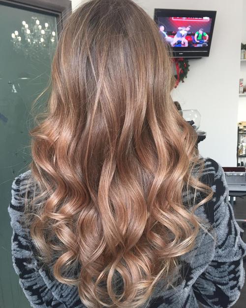 v shaped hair