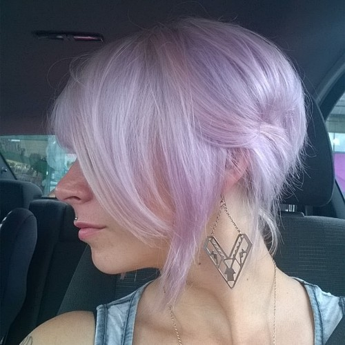 very light lavender hair color