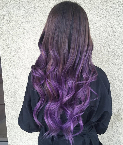 purple tips on light brown hair wwwimgkidcom the