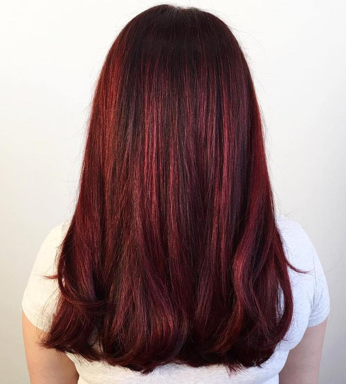long blunt haircut for thick hair