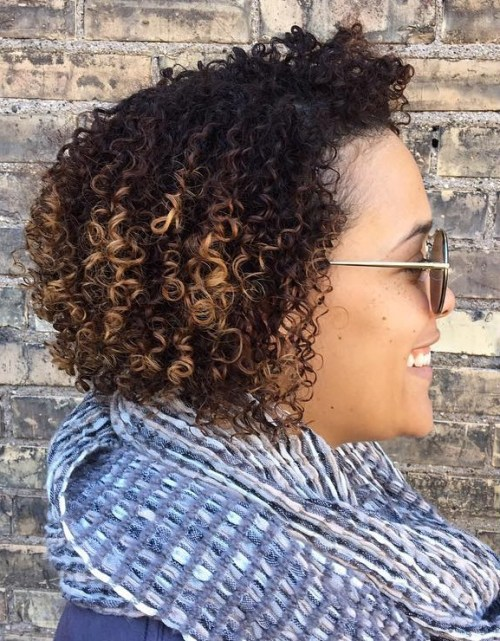 shorter permed hair for African American women