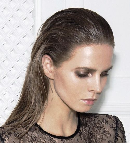 gelled hairstyle for women