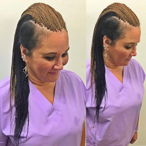 Mohawk Senegalese Twists With Undercuts