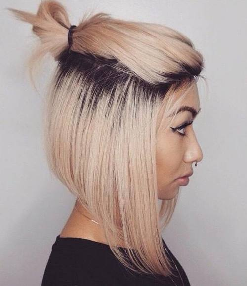 half hairstyles : 40 Quick and Easy Short Hair Buns to Try