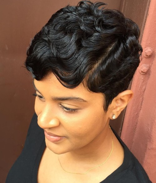 short curly black hairstyle