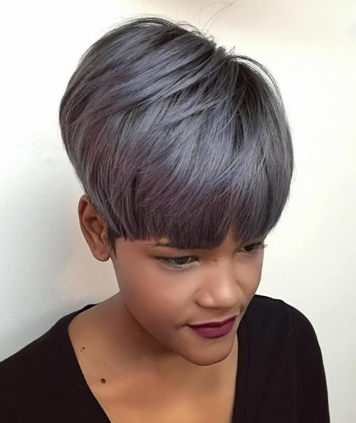 Short Gray Sew In