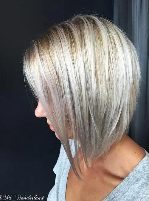 Chunky Highlights And Highlights Inverted Bob With Chunky Highlights ...